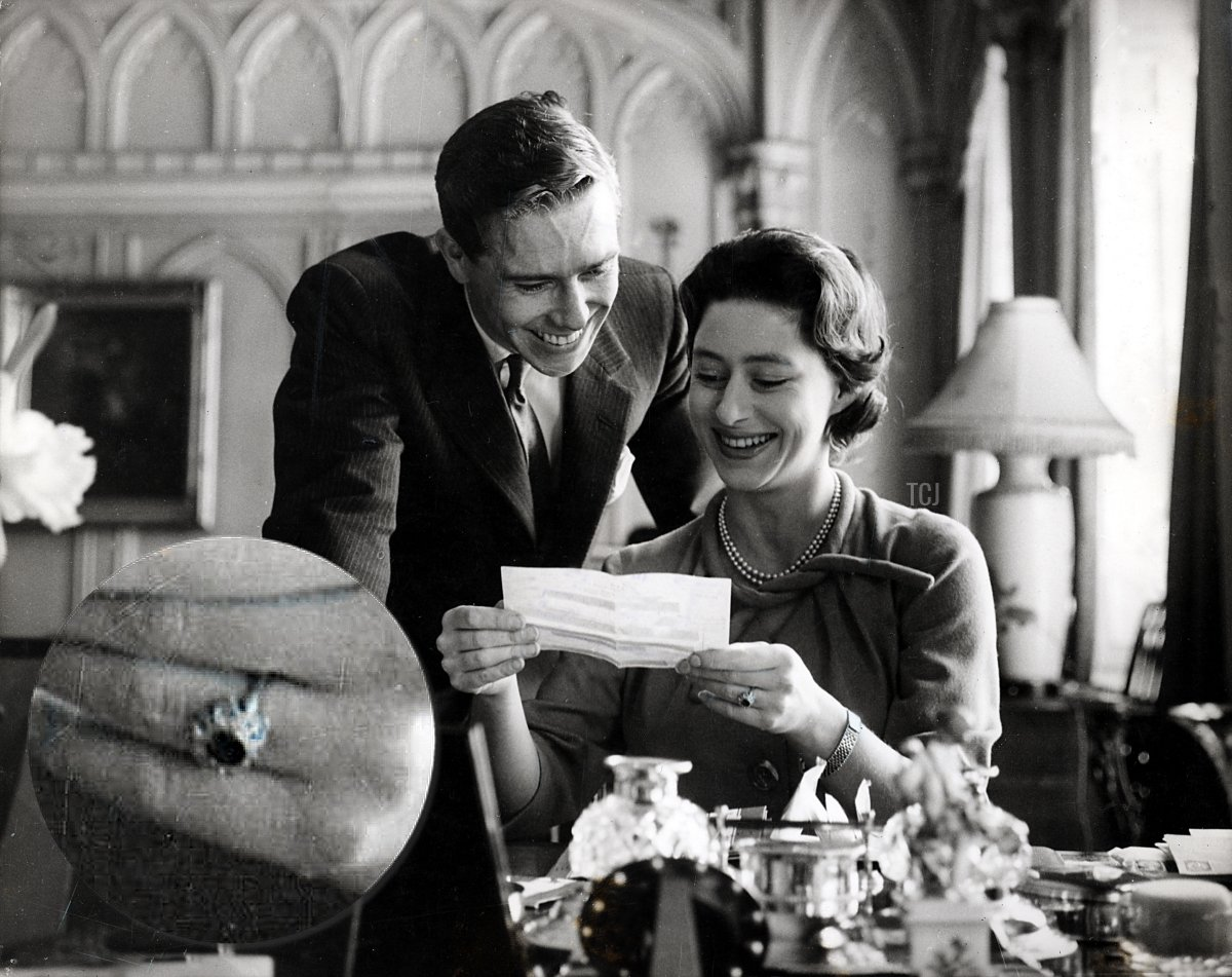Princess Margaret and Antony Armstrong-Jones at the time of their engagement in 1960