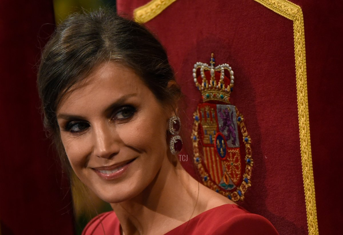 Spain's Queen Letizia looks on during the Princess of Asturias Awards ceremony at the Campoamor Theatre in Oviedo, on October 18, 2019