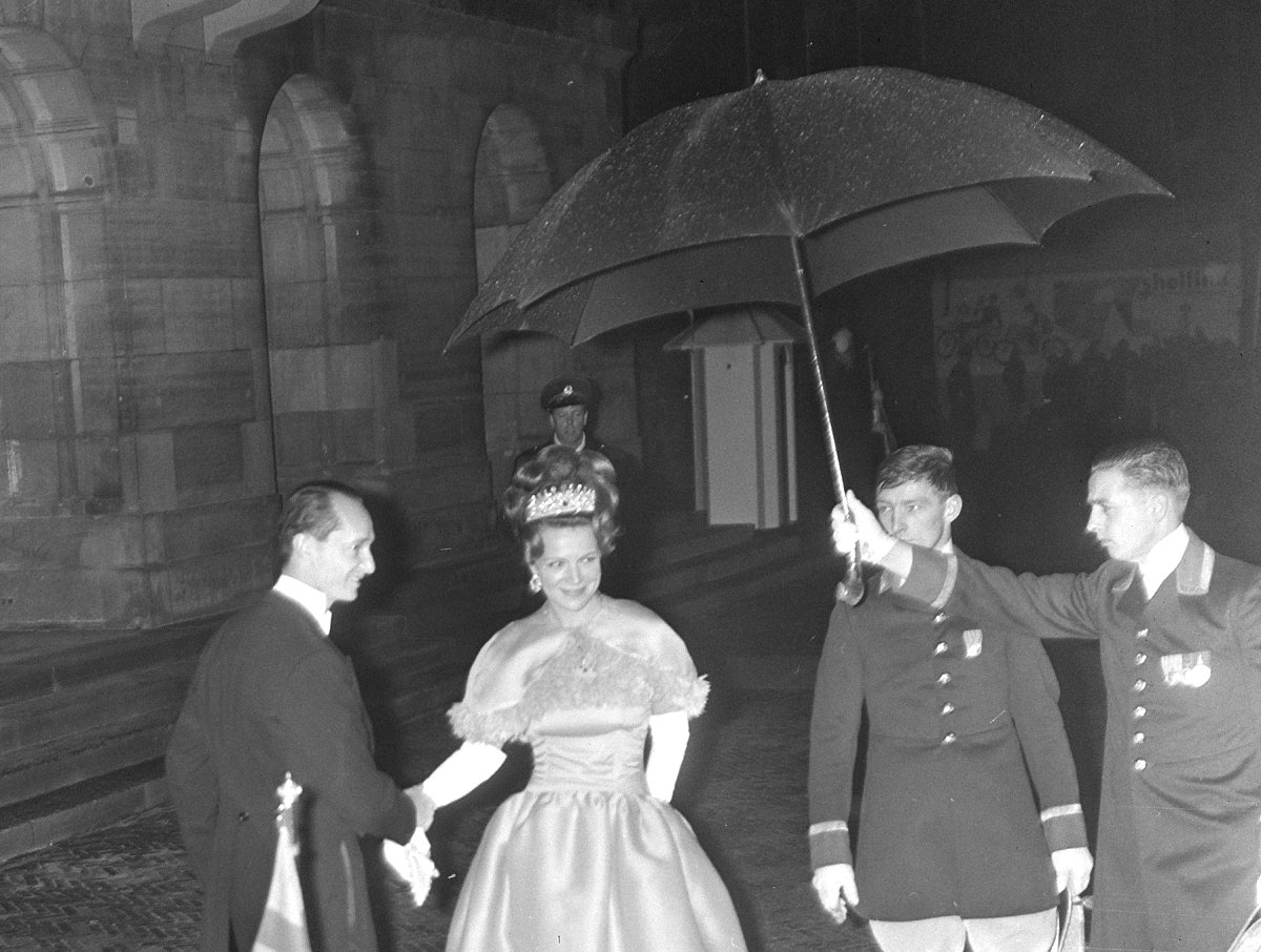Princess Irene attends a gala in Amsterdam, March 1966