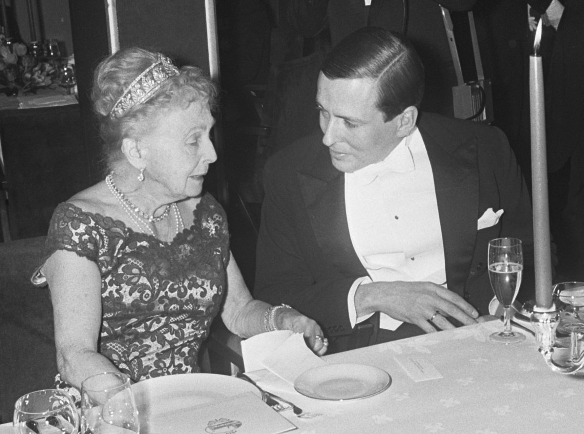 Princess Alice, Countess of Athlone attends a 30th wedding anniversary celebration for Queen Juliana and Prince Bernhard of the Netherlands, January 1967