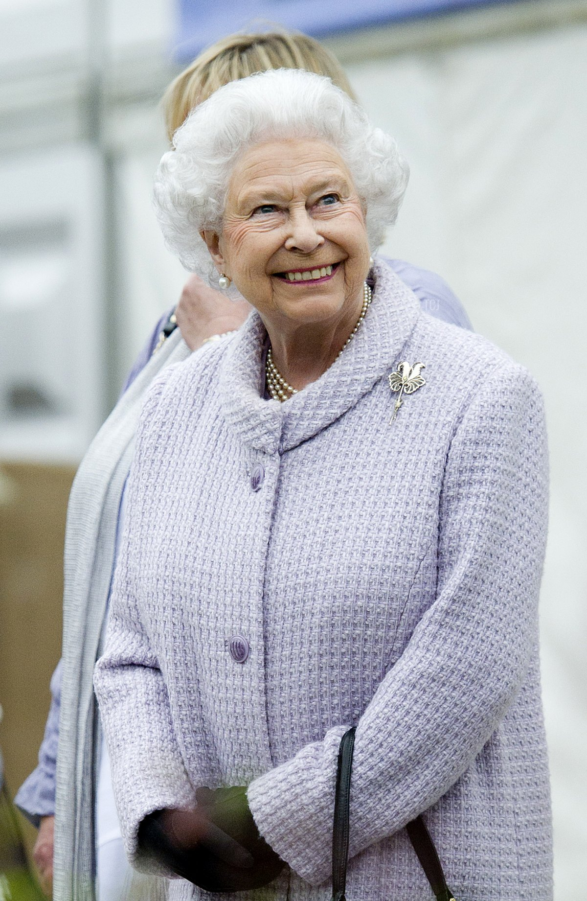 Britain's Queen Elizabeth II vists the Chelsea Flower Show in London on May 20, 2013