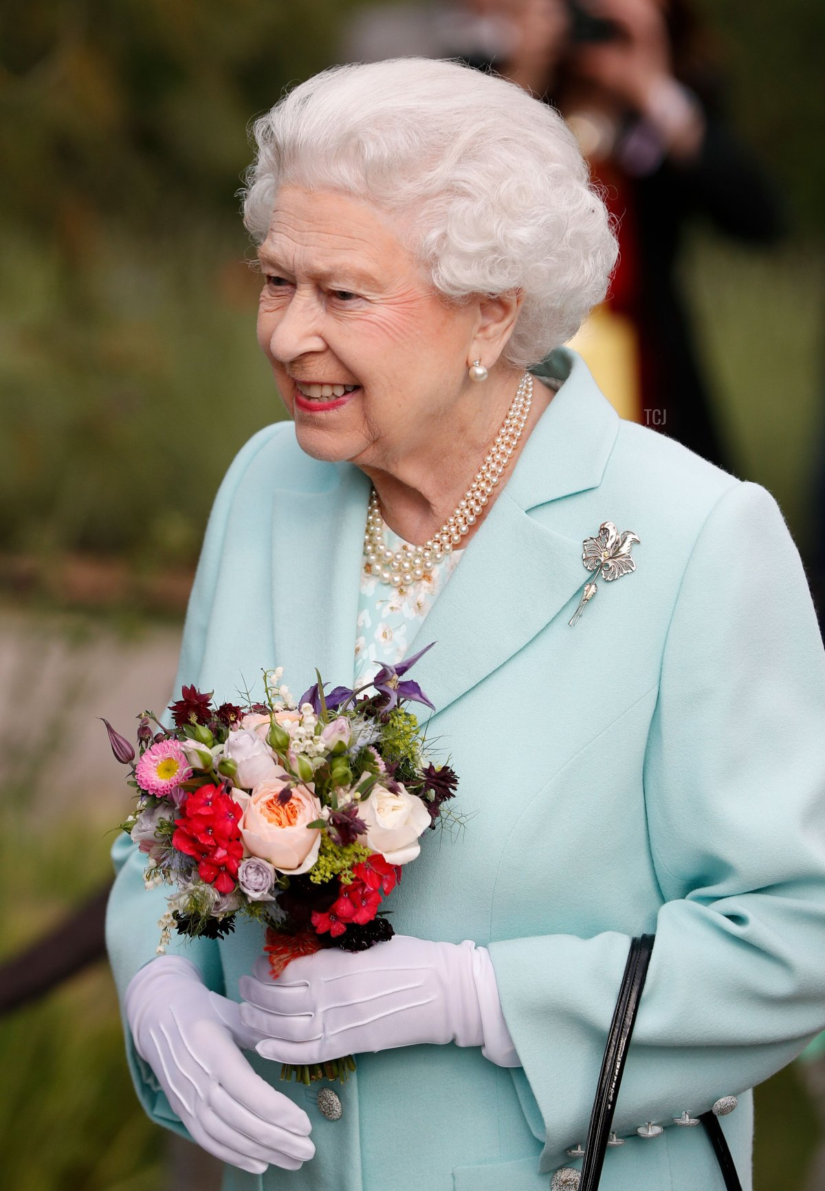 Britain's Queen Elizabeth II arrives at the 2016 Chelsea Flower Show in central London on May 23, 2016