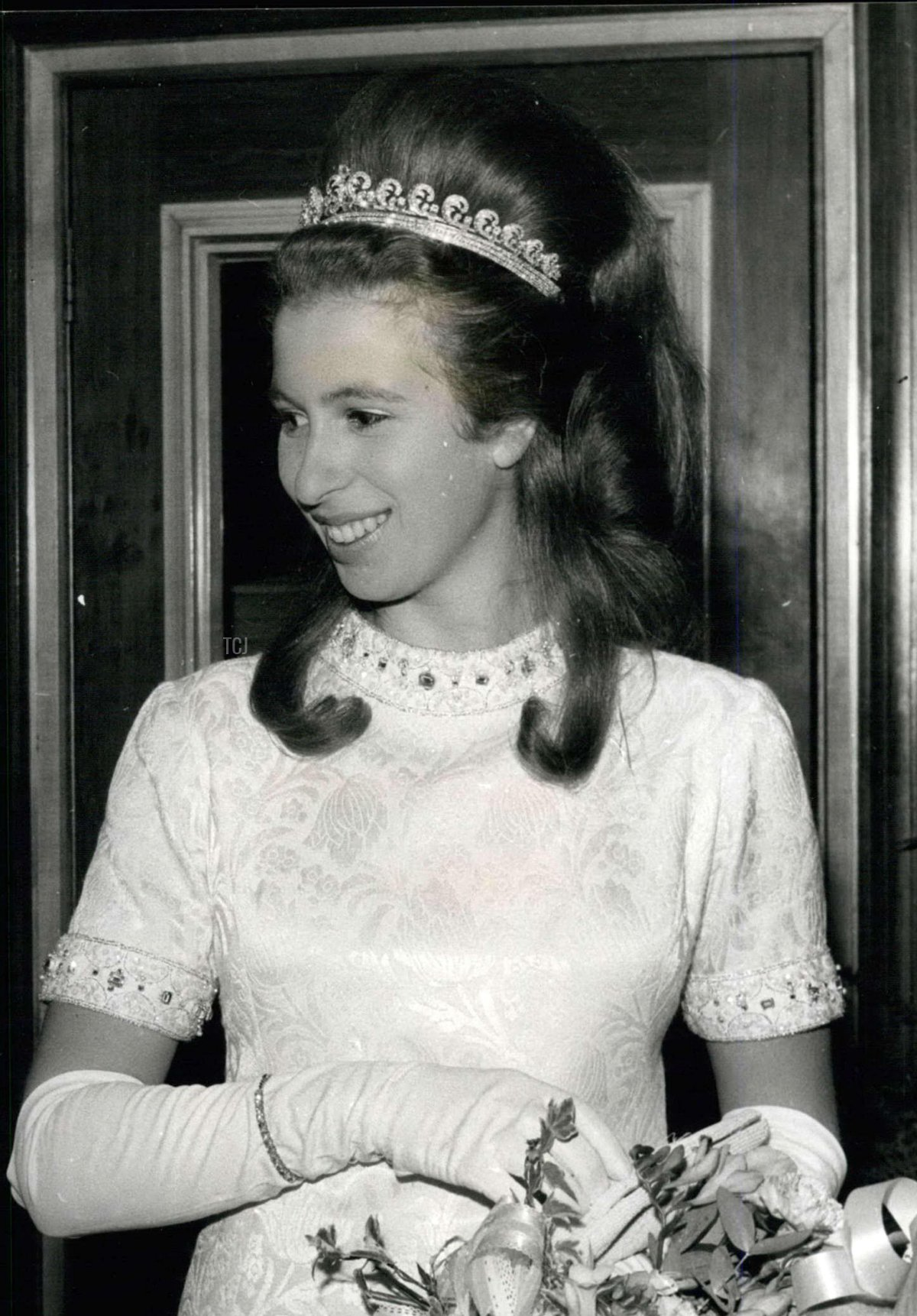 Princess Anne attends a film premiere at the Warner Theatre, November 1969