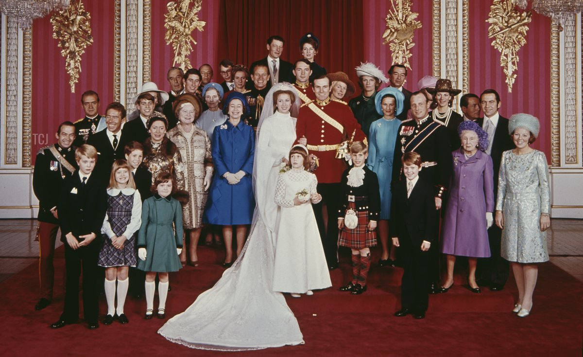 Wedding portrait of Princess Anne and Mark Phillips, 1973