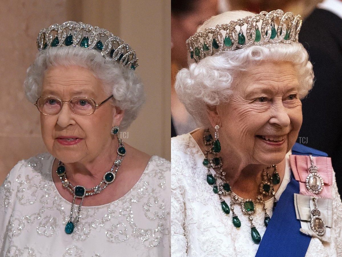 The Delhi Durbar Necklace, The Greville Emerald Drop Necklace