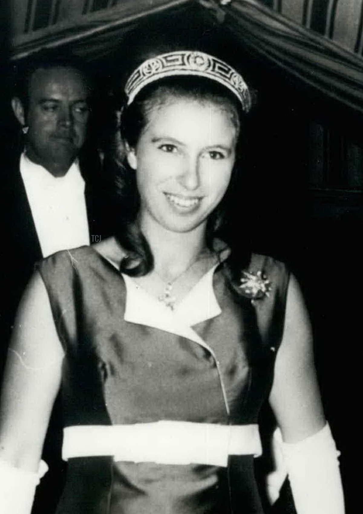 May 15th 1970- Princess Anne attends a banquet .Photo shows Princess Anne, in full- length green dress, arrives at Goldsmith's Hall, Foster Lane, London