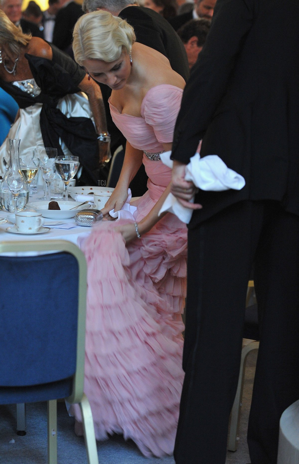 Crown Princess Mette-Marit Of Norway attends the Government Pre-Wedding Dinner for Crown Princess Victoria of Sweden and Daniel Westling at The Eric Ericson Hall on June 18, 2010 in Stockholm, Sweden