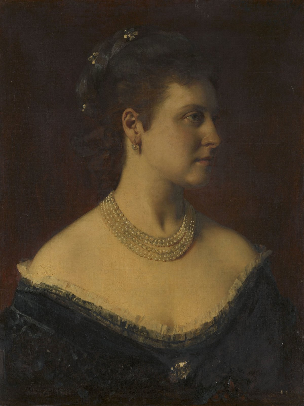 Princess Louise, Marchioness of Lorne, later Duchess of Argyll, by Heinrich von Angeli,1875