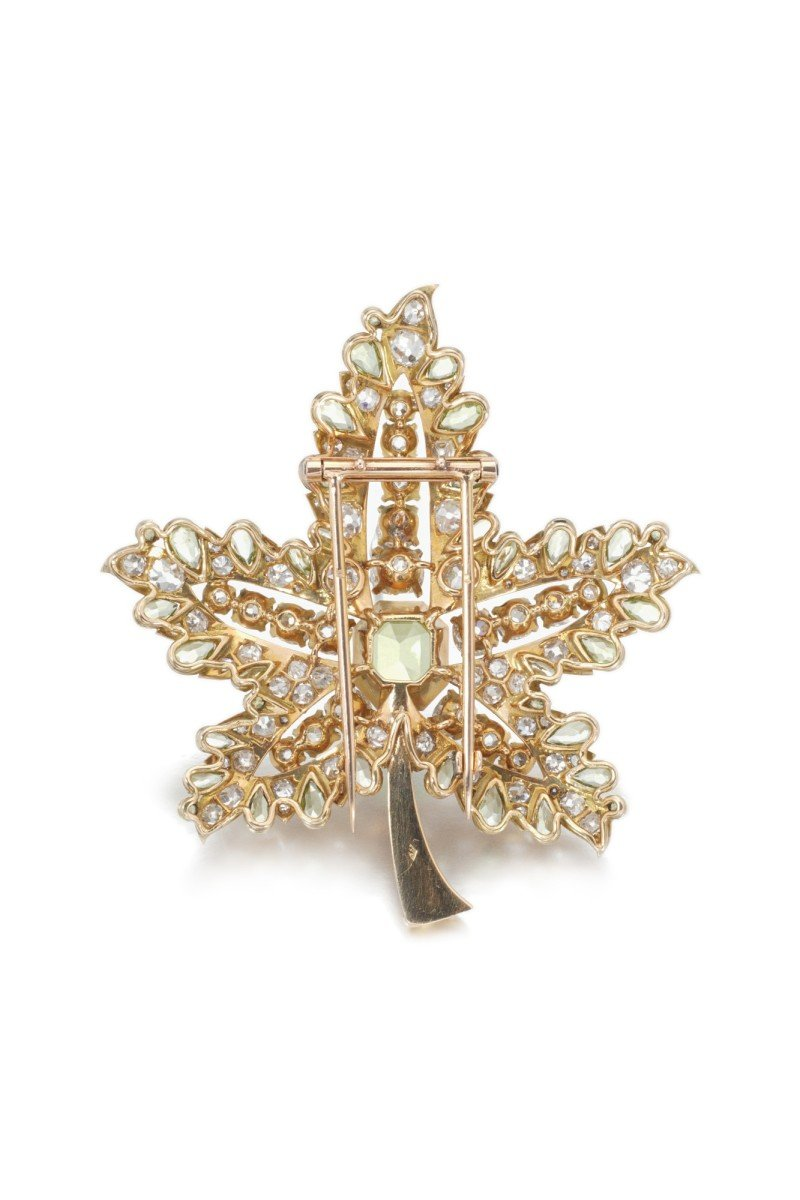René Boivin, Peridot and diamond brooch