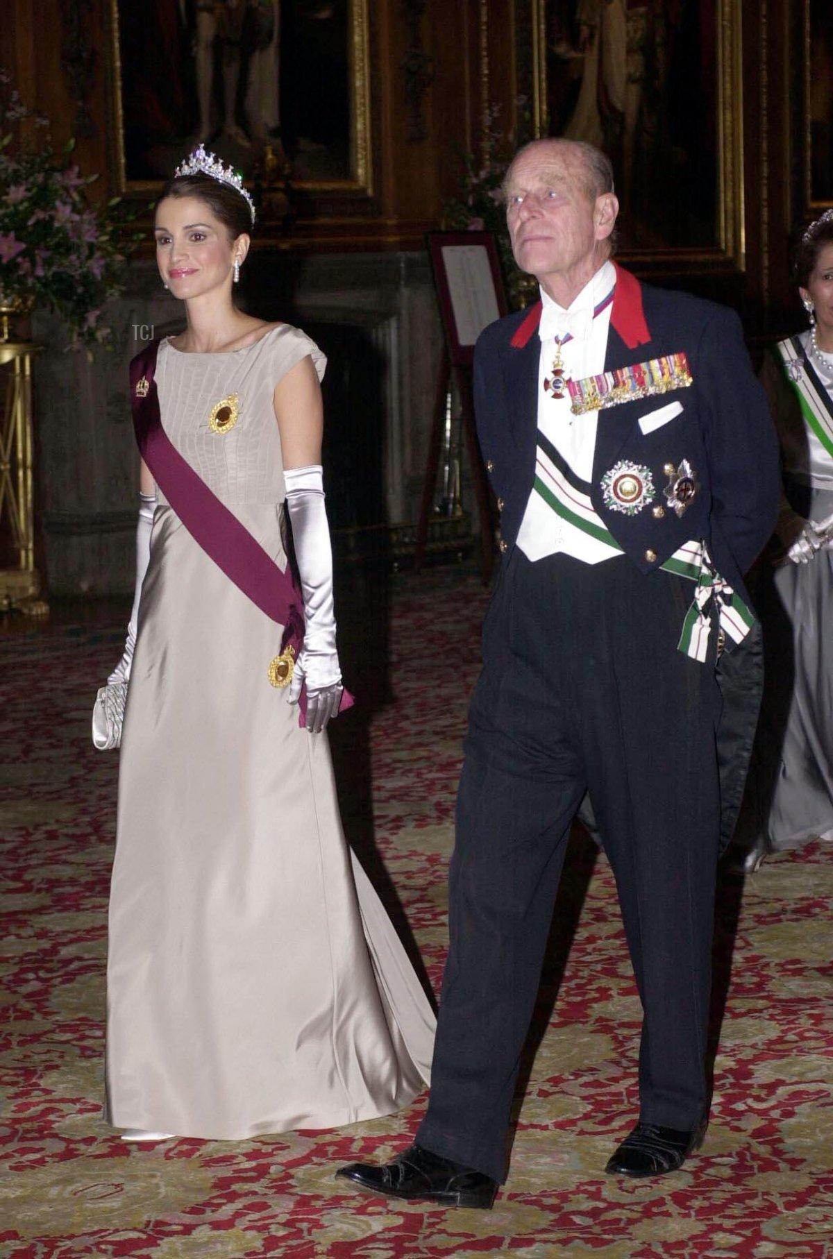 King Abdullah and Queen Rania of Jordan State Visit to Britain - Windsor Castle, 2001