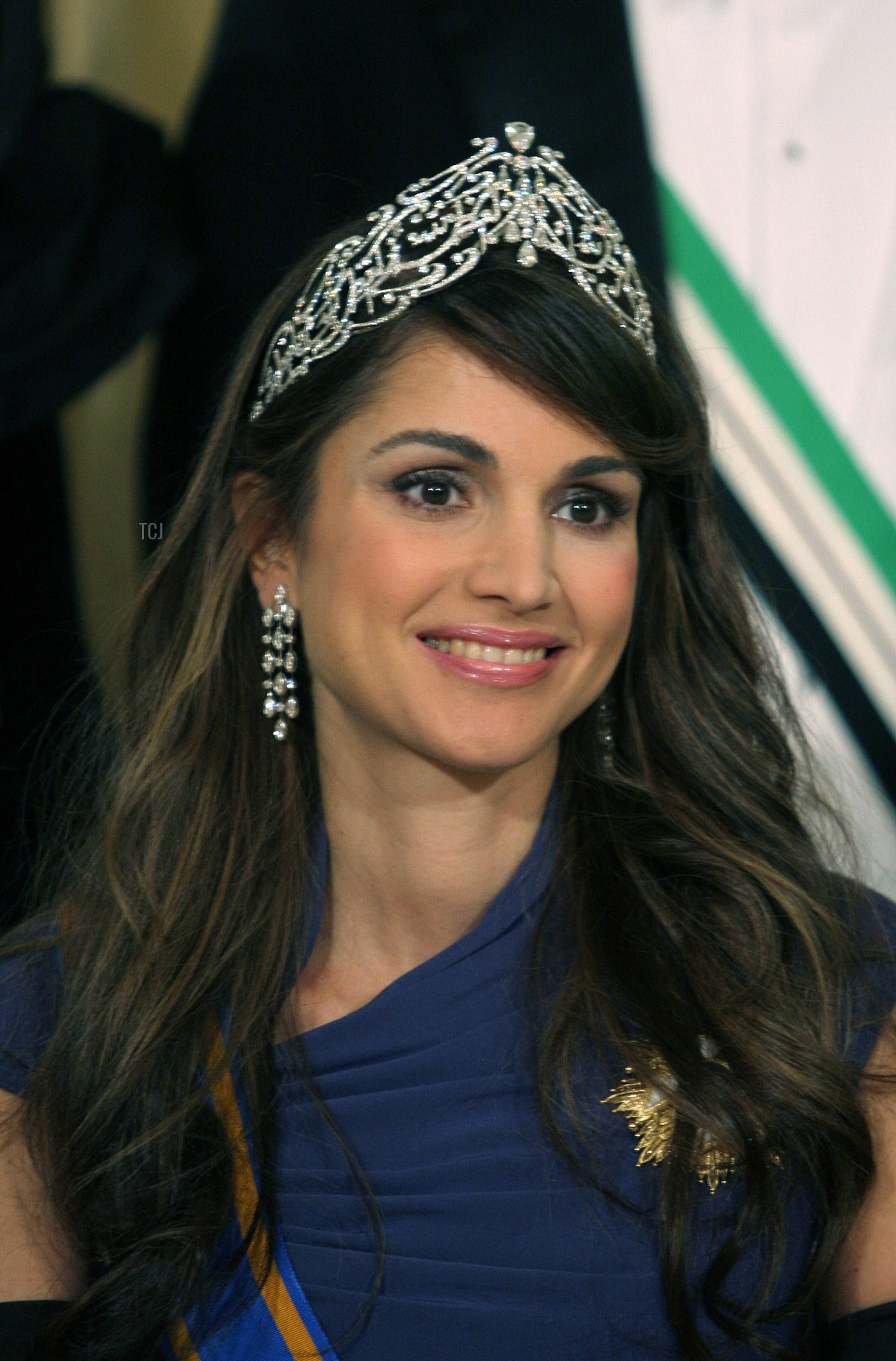 Queen Rania of Jordan pictured on the occasion of the state visit by King Abdullah II and Queen Rania of Jordania to The Hague, the Netherlands, Monday, 30 October 2006