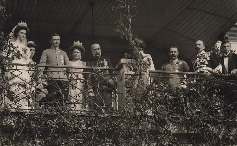 Wedding of Archduke Charles of Austria and Princess Zita of Bourbon-Parma in Schwarzau Palace, October 1911