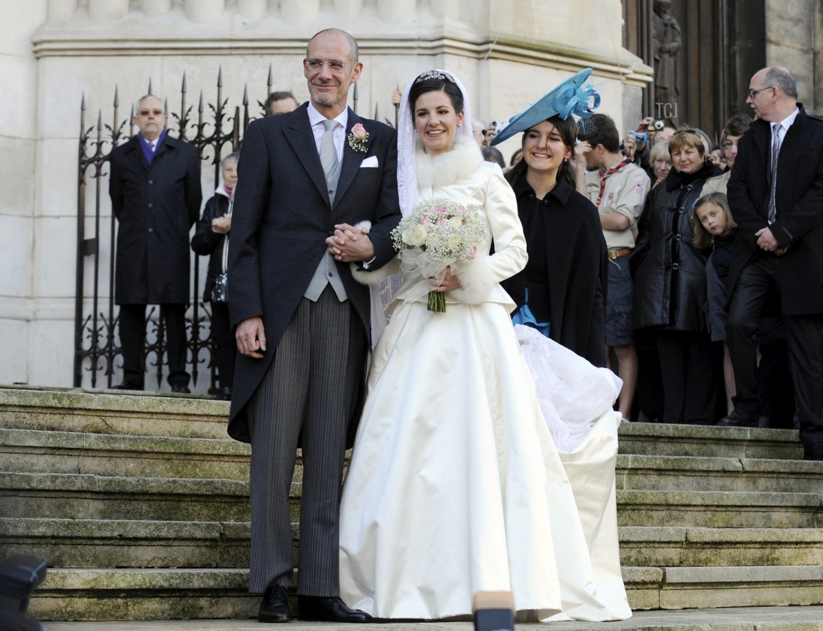 Adelaide Drape-Frisch with her father on her wedding day, Dec 2012