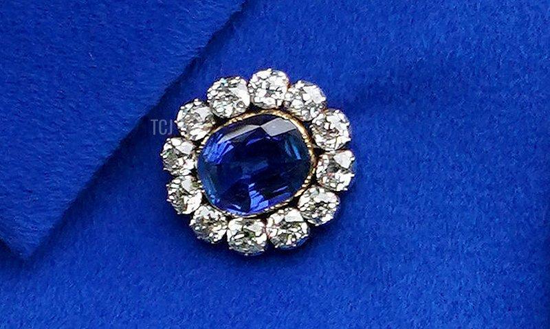 Prince Albert's Brooch, worn by the Queen in June 2021