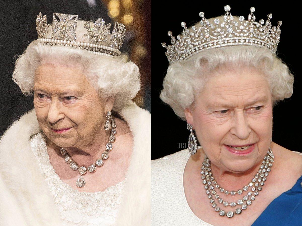 The Coronation Necklace and Queen Elizabeth II's Festoon Necklace