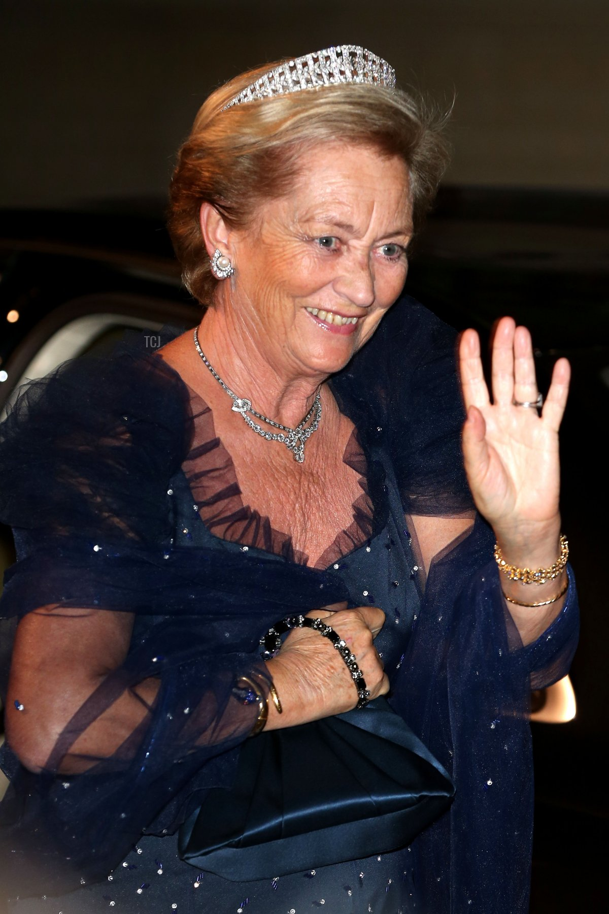 Queen Paola of Belgium attends the Gala dinner for the wedding of Prince Guillaume Of Luxembourg and Stephanie de Lannoy at the Grand-ducal Palace on October 19, 2012 in Luxembourg, Luxembourg