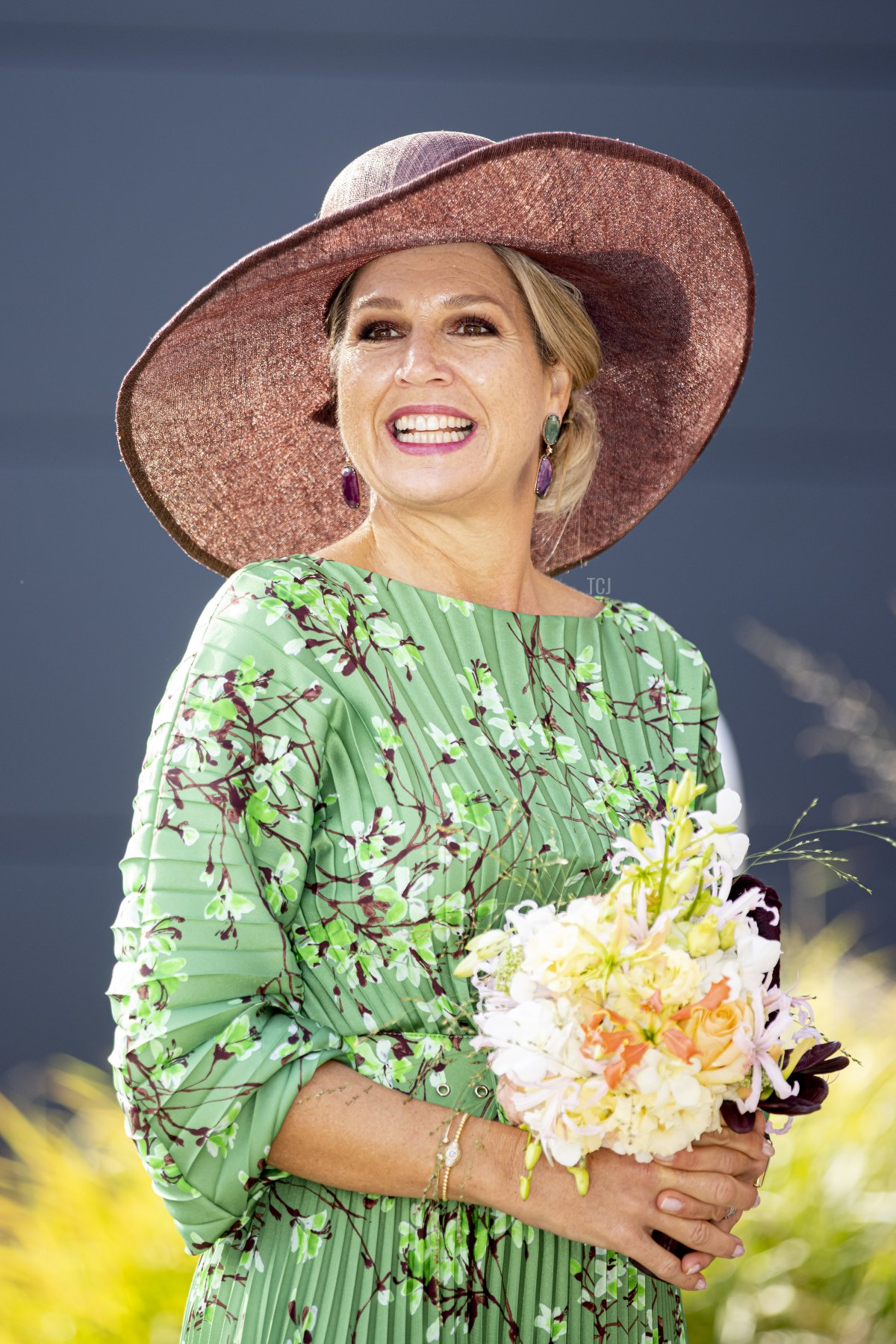 Queen Maxima of The Netherlands visits Auping Mattresses, Box springs and beds production hal on September 14, 2021 in Deventer, Netherlands. The King and Queen are visiting the Dutch region Salland