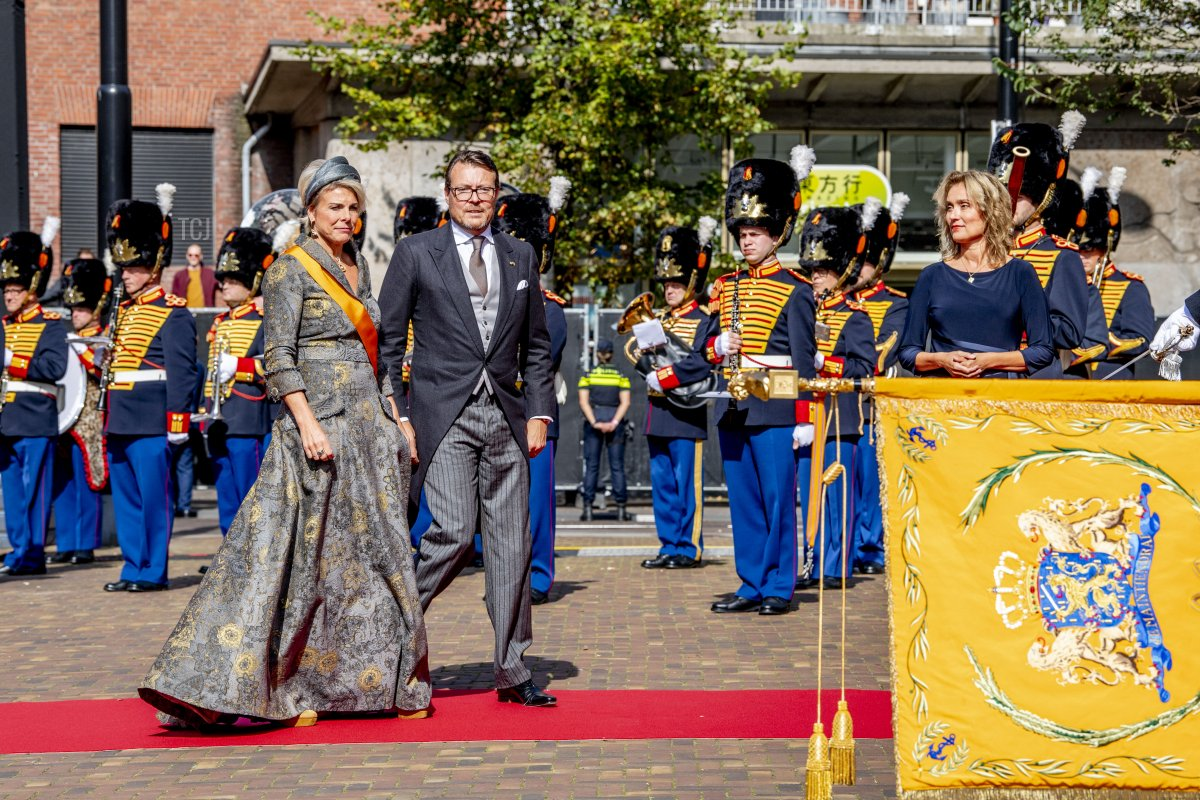 Prince Constantijn of The Netherlands and Princess Laurentien of The Netherlands attends Prinsjesdag, the annual opening of the parliamentary year, in the Grote Kerk on September 21, 2021 in The Hague, Netherlands