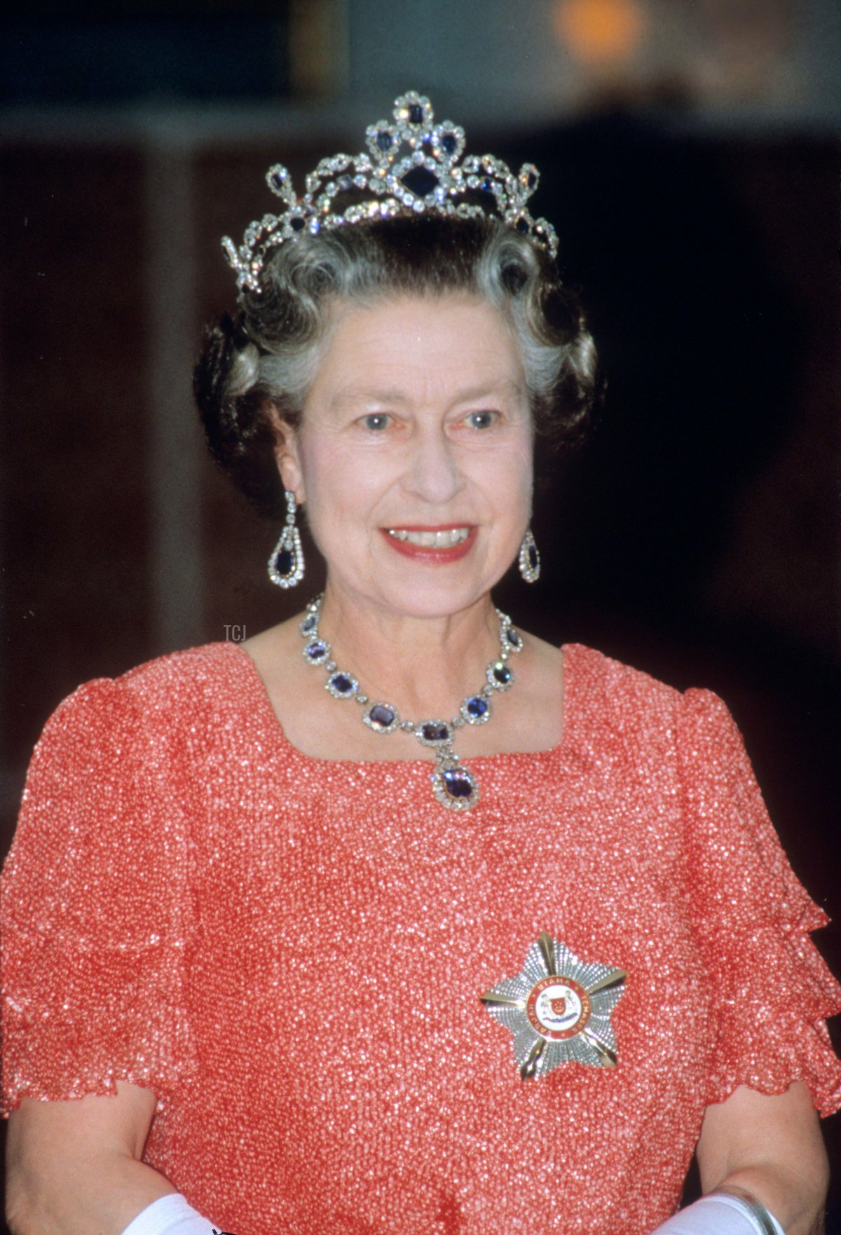 HM Queen Elizabeth II onboard HMY Britannia during her Royal visit to Singapore in 1989