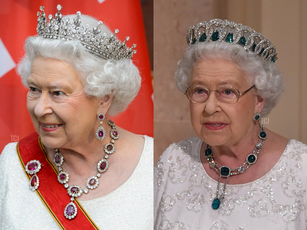 The Crown Ruby Necklace and The Delhi Durbar Necklace