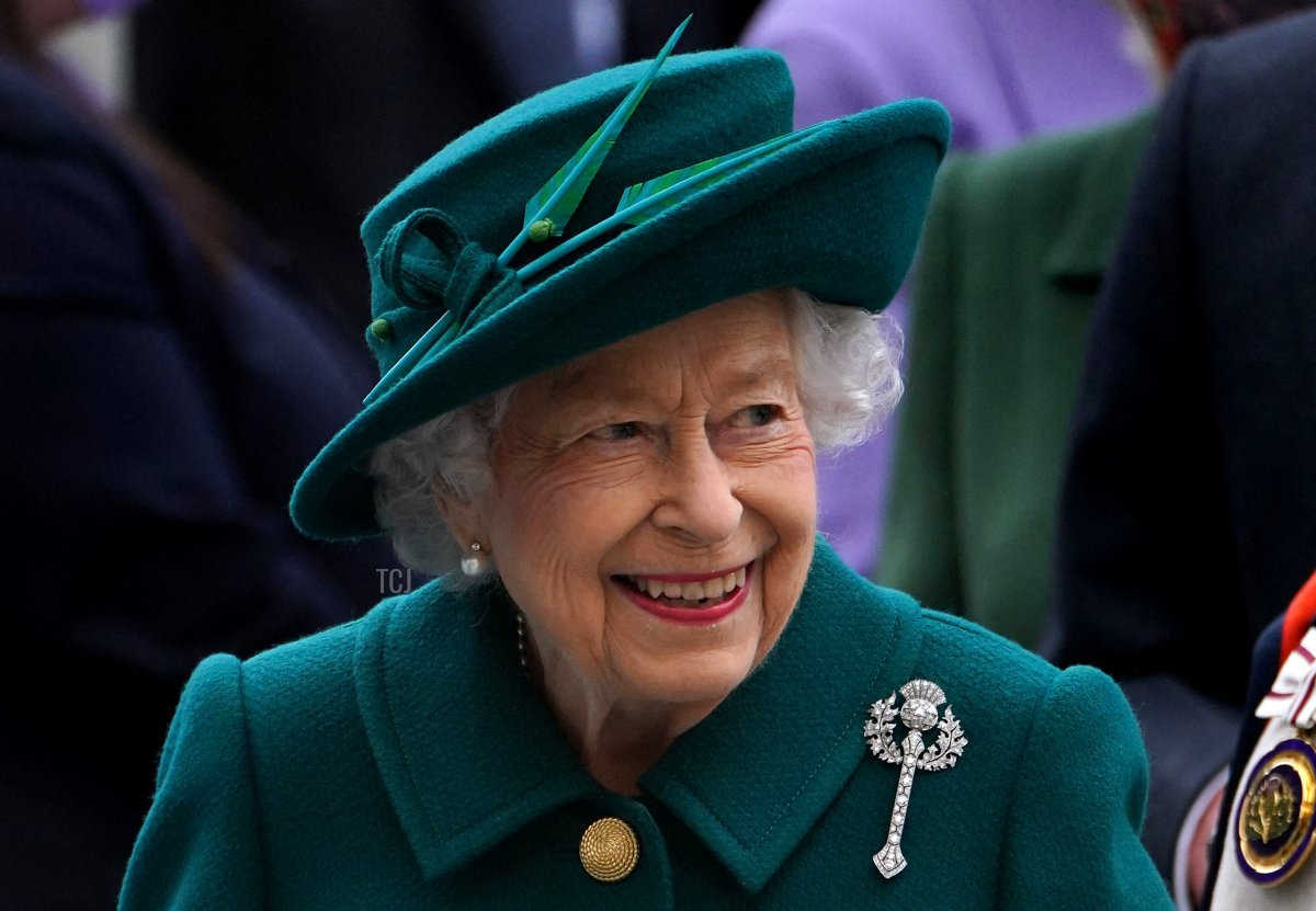 Britain's Queen Elizabeth II arrives for the opening of the sixth session of the Scottish Parliament, in Edinburgh, Scotland on October 2, 2021