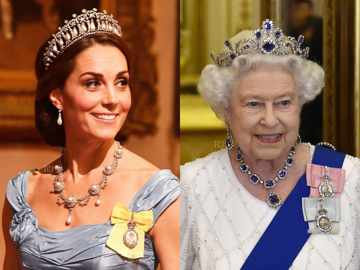 Queen Alexandra's Wedding Necklace and the George VI Sapphire Necklace