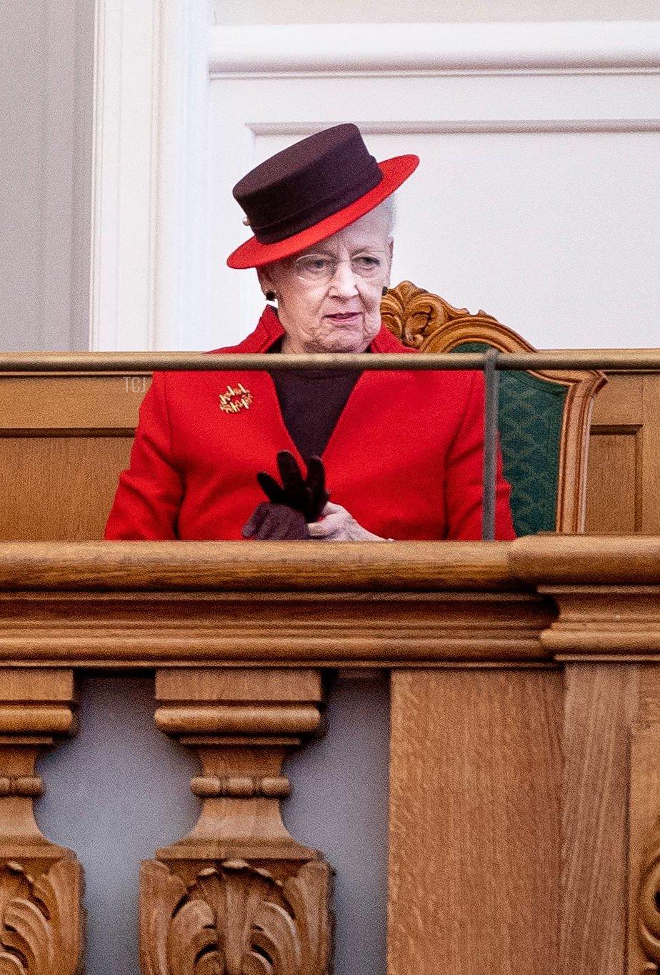 Queen Margrethe II of Denmark during the opening of the Danish Parliament Folketinget in Copenhagen, Denmark, on October 5, 2021