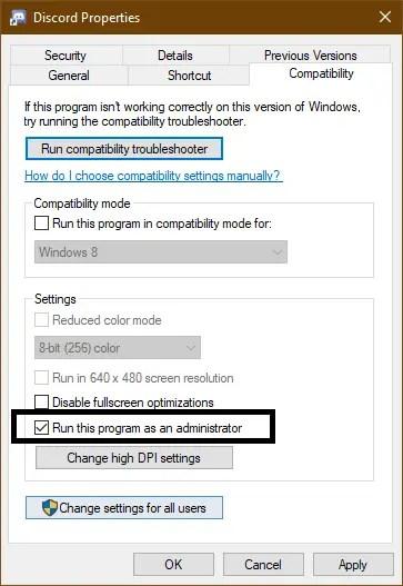compatibilty run discord
