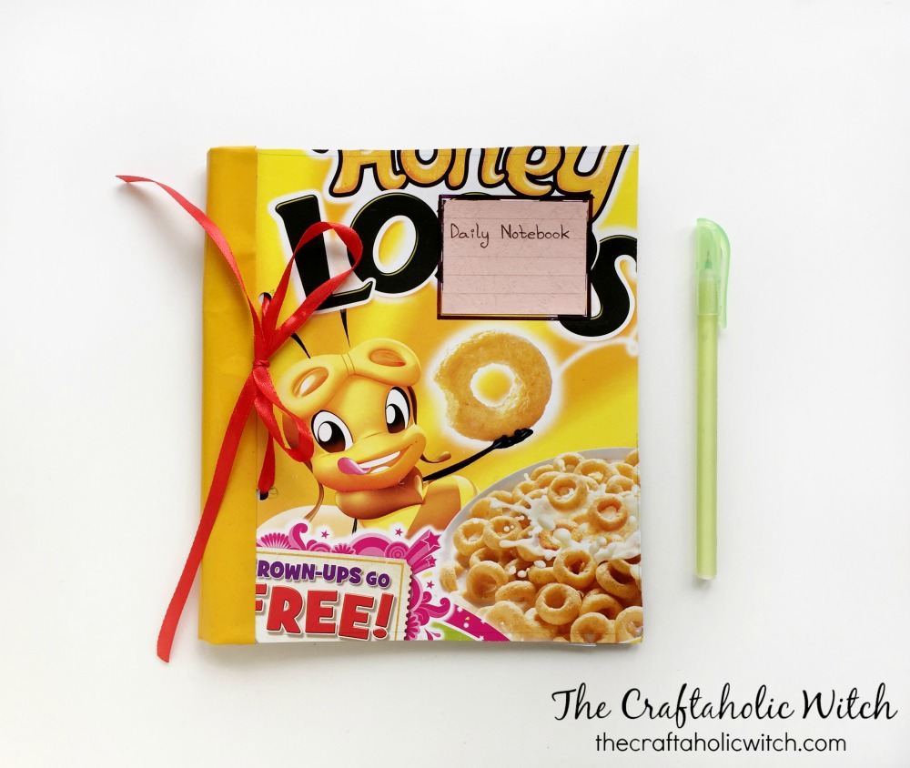 Cereal box gallery craftgawker email cute recycled notebook ccuart Gallery