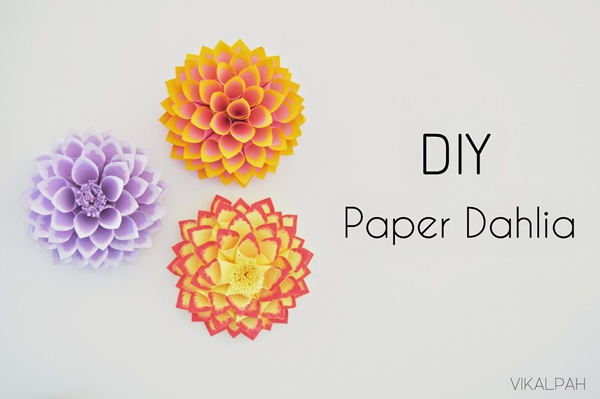 DIY paper dahlia feature image