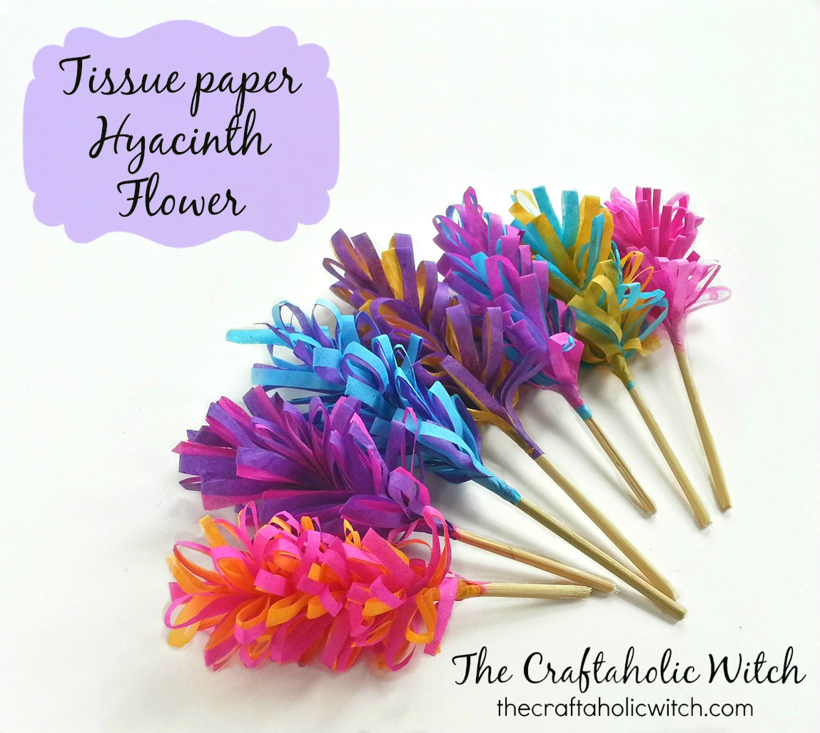 Create Tissue Paper Hyacinth Flowers