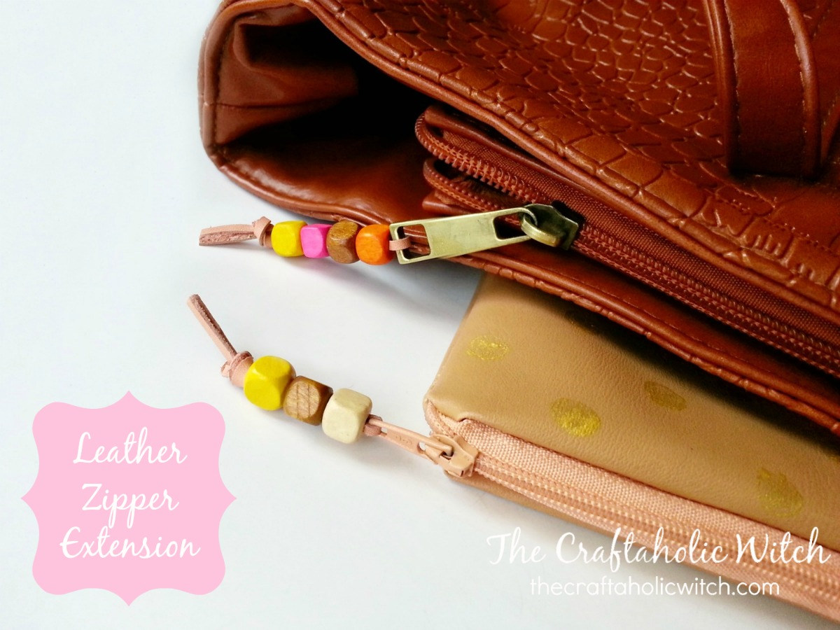 Create Leather Zipper Extensions