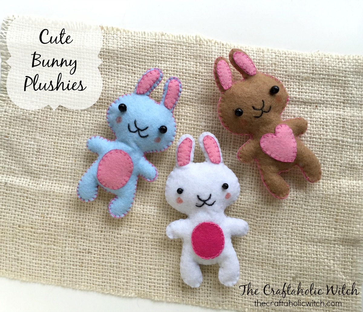 Create Cute Felt Bunny Plushies