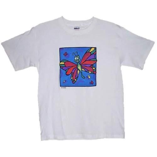 Pretty Butterfly Sky Kids T-Shirt