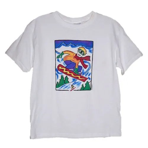 Snowboarder kids t-shirt