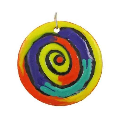 Colour Swirl Pendant