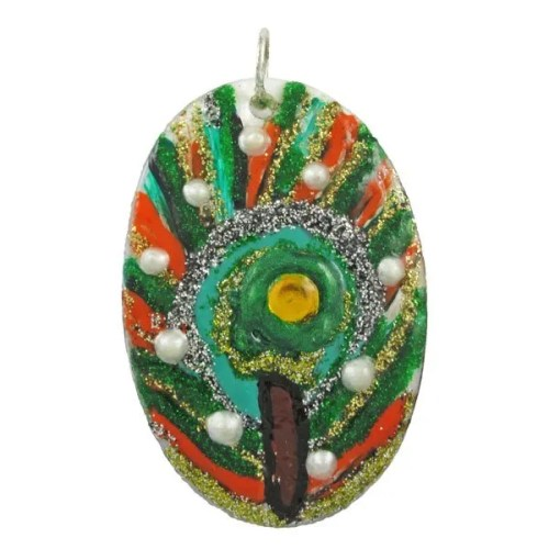 Peacock Shell Pendant