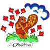 Canada Beaver Pillowcase Painting Kit