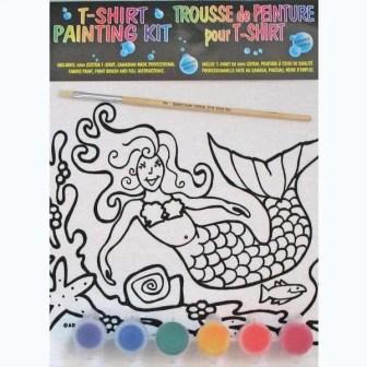 Mermaid Kids T-Shirt Painting Kit