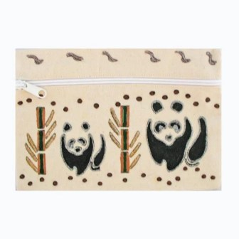Cream Pandas Kids Pencil Case