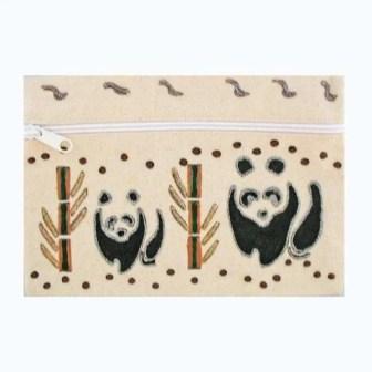 Cream Pandas Kids Pencil Case