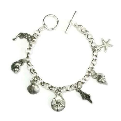 Sea-Charm Pewter-Bracelet