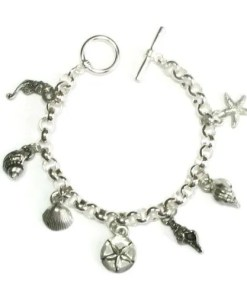 Sea-Charm Pewter-Bracelet
