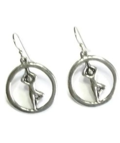 Yoga Hoop Pose Earrings