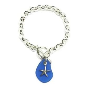 Starfish-Blue-Seaglass-Bracelet