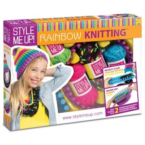 Rainbow-Knitting Craft Kit