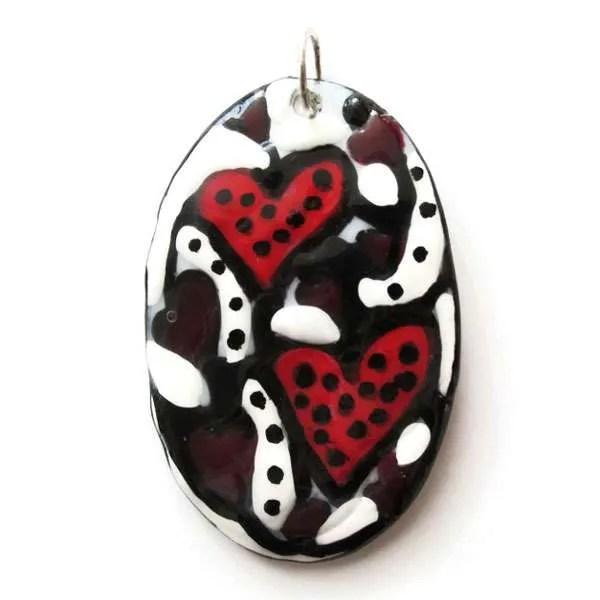 Strawberry Hearts Pendant