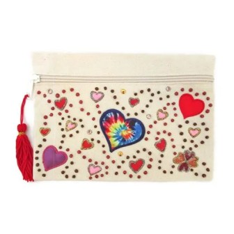 HEARTS ABOUND COSMETIC BAG