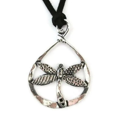 Dragonfly Hoop Necklace