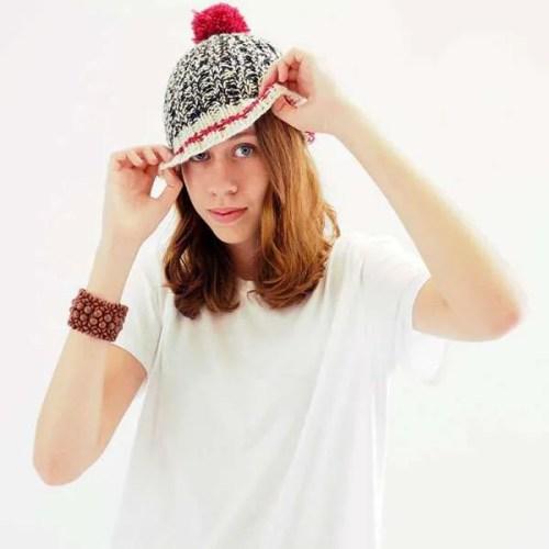 Sock Monkey Hat Girl
